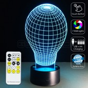 3D Ball Optical Lamp with Remote Control