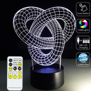3D Love Knot Optical Lamp with Remote Control