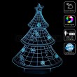 3D Christmas Tree Optical Lamp with Remote Control
