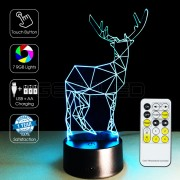 3D Deer Optical Lamp