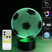 3D Football Optical Lamp with Remote Control
