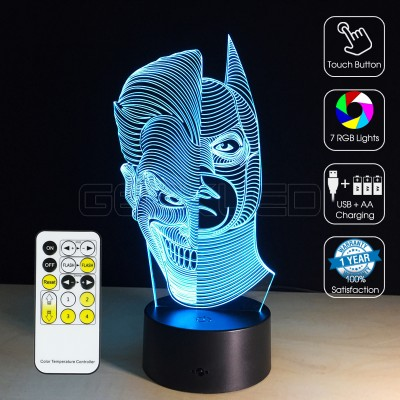 3D Batman-Jack Optical Lamp