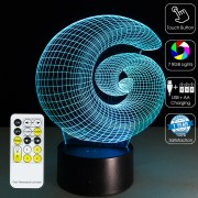 3D Illusion Circle Optical Lamp