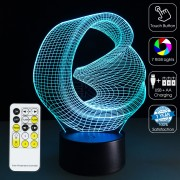 3D Modern Art Optical Lamp