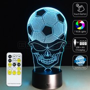 3D Football Skull Optical Lamp