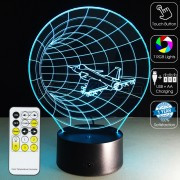 3D Space Tunnel Optical Lamp