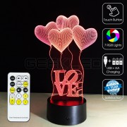 3D Heart Balloons Optical Lamp