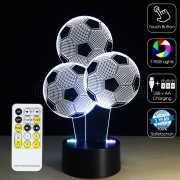 3D Footballs Optical Lamp