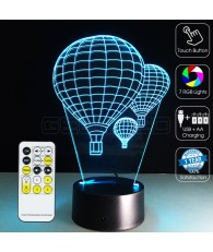 3D Fire Balloons Optical Lamp