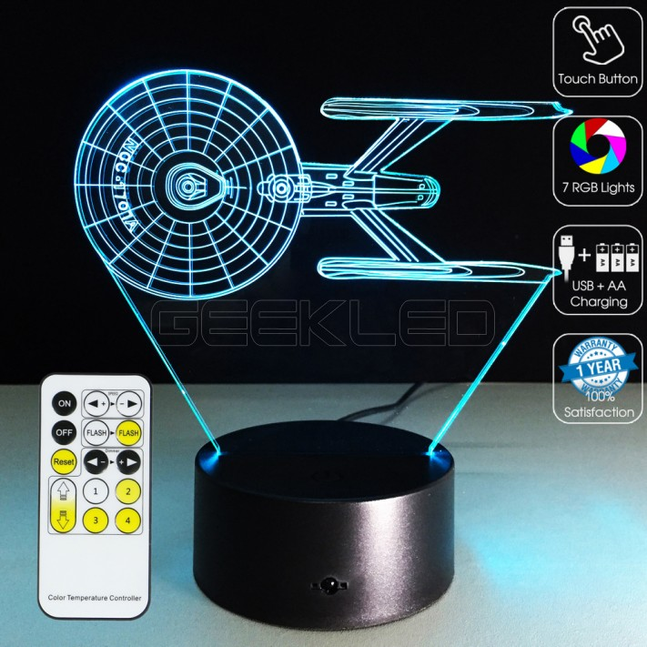 3d uss enterprise blueprint optical lamp with remote control 3d uss enterprise blueprint optical lamp malvernweather Images