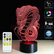 3D Dragon Optical Lamp