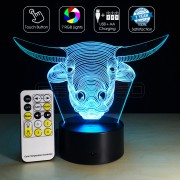 3D Bull Optical Lamp