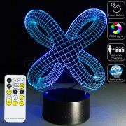3D Twist Knot Optical Lamp