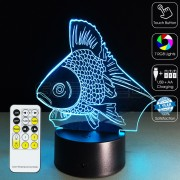 3D Fish Optical Lamp
