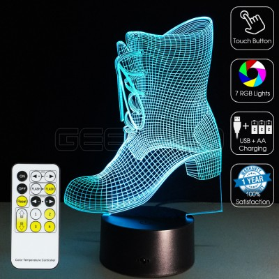 3D Boot Optical Lamp