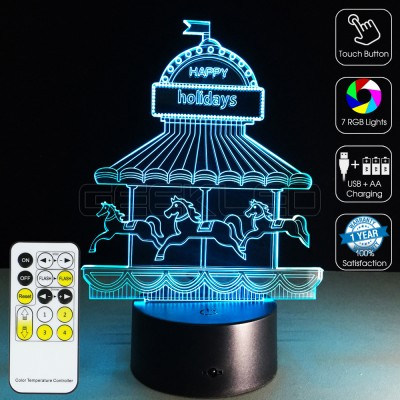 3D Carousel Optical Lamp