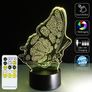 3D Butterfly Optical Lamp