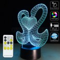 3D Goose Couple Optical Lamp