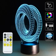 3D Twist Circle Optical Lamp