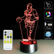 3D Kobe Bryant Optical Lamp