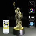 3D Lady Liberty Optical Lamp