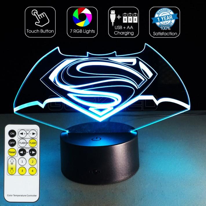3D Batman VS Superman Optical Lamp