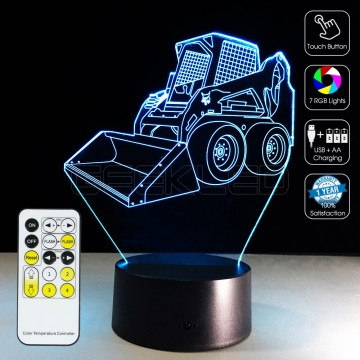 3D Bulldozer Dozer Optical Lamp