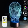 3D Buddha Optical Lamp