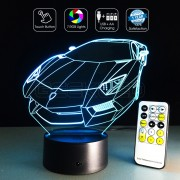 3D Sports Car Optical Lamp