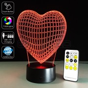 3D Heart Optical Lamp