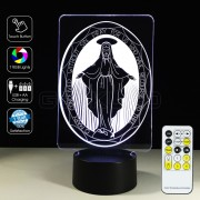 3D Goddess Virgin Mary Optical Lamp