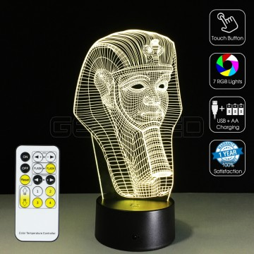 3D Pharaoh Optical Lamp