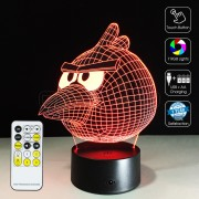 3D Angry Bird Optical Lamp