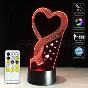 3D Hearts Optical Lamp