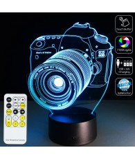 3D Camera Optical Illusion Lamp Night Light