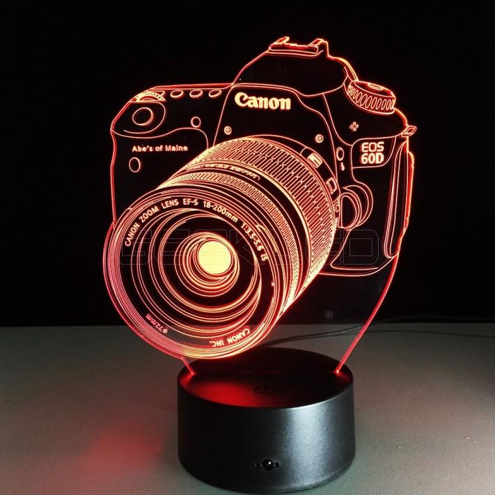 Camera Optical Illusion Lamp Night Light