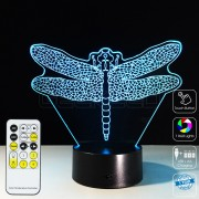 3D Dragonfly Optical Lamp