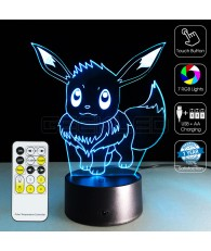 3D Optical Illusion Lamp Night Light Eevee