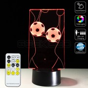 3D Optical Illusion Lamp Night Light Football Underwear