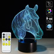 3D Horse Optical Lamp