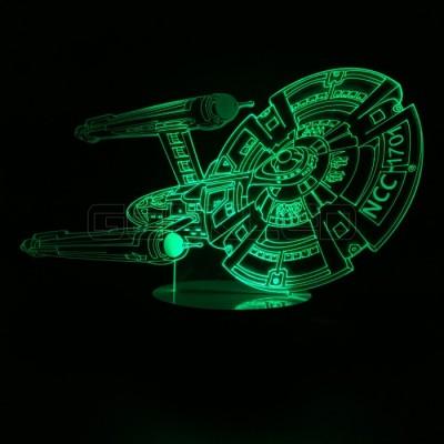 3D Optical Lamp Star Trek Star Ship USS Enterprise NCC-1701