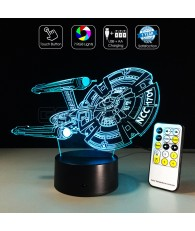 3D Optical Lamp Star Trek Star Ship USS Enterprise NCC-1701