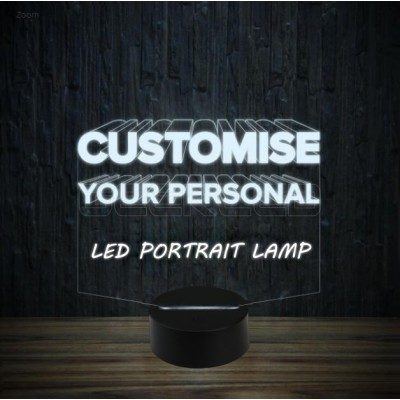 Exclusive Custom Design LED Portrait Lamp Kit with 7 RGB Lights