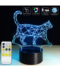 3D Optical Illusion Lamp Night Light Walking Cat