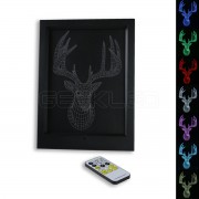 3D Buck LED Photo Frame Lamp