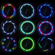 Bicycle Motorcycle Spoke LED Light 14 LEDs 30 Patterns 8 Colors 2PCS WL03
