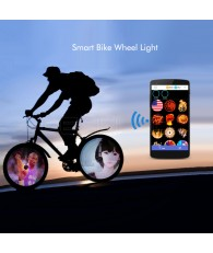 2017 Upgraded Smart Bike Wheel Light 256 LEDs APP Controlled F2