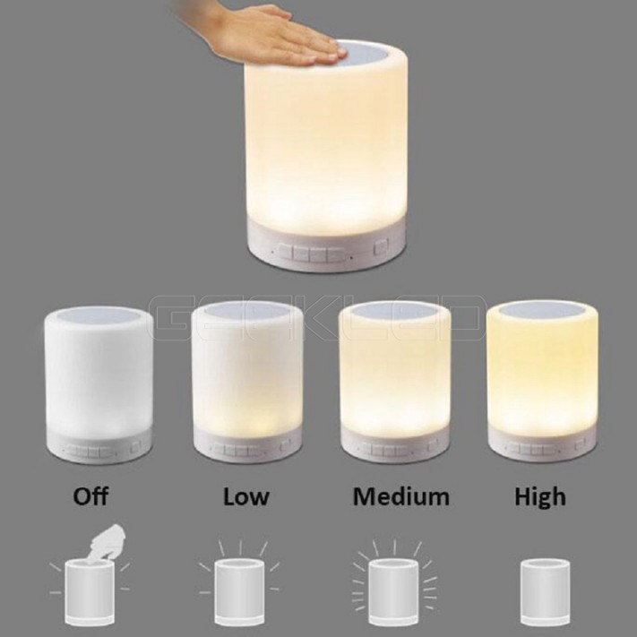 bluetooth speaker led dimmable touch lamp support tf card. Black Bedroom Furniture Sets. Home Design Ideas