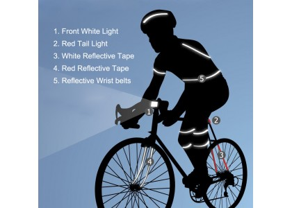 Be Safe with Bike Lights and Wheel Lights